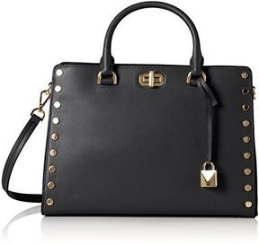 Michael Kors Sylvie Studs Black Tote Bag - BLACK - STYLE