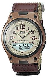 Casio Men's World Time Ana-Digi Beige Watch