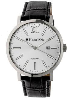 Heritor Bristol Mens Black Strap Watch-Herhr5305