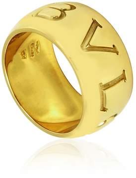 Bvlgari Monologo 18k Yellow Gold Band Ring Size 56 (US 7 3/4)