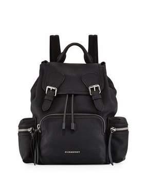 Burberry Rucksack Medium Leather Chain Backpack, Black - BLACK - STYLE