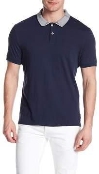 Ben Sherman Short Sleeve Intarsia Collar Polo