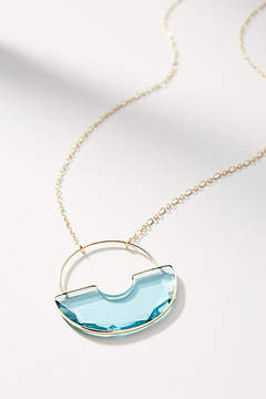 Anthropologie Glass Pendant Drop Necklace