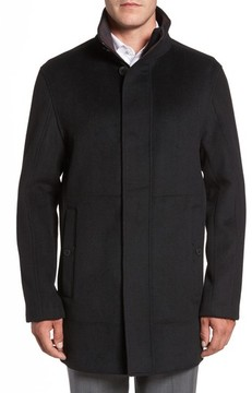 Andrew Marc Men's Double Face Wool Blend Car Coat