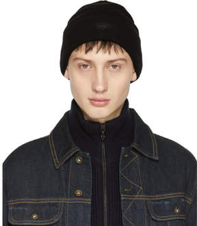 Rag & Bone Black Merino Addison Beanie