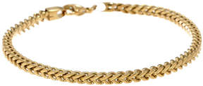 JCPenney FINE JEWELRY Mens Stainless Steel & Gold-Tone IP 9 5mm Foxtail Bracelet