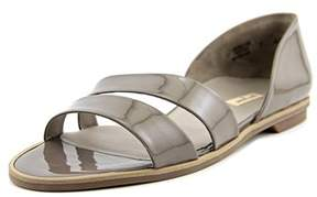 Paul Green Wynn Women Open Toe Patent Leather Tan Slides Sandal.