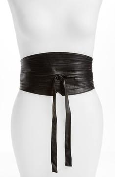Topshop Women's Faux Leather Obi Wrap Belt