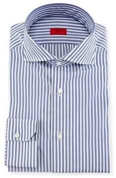 Isaia Bengal Stripe Dress Shirt, Navy/White