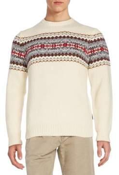 Gant Jacquard-Knit Wool Crewneck Sweater