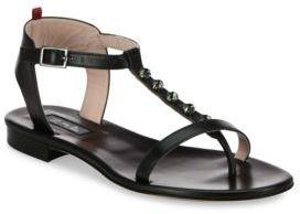 Sarah Jessica Parker Veronika Jeweled T-Strap Leather Sandals
