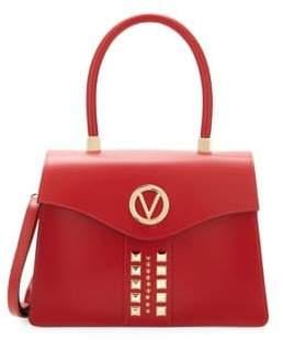 Mario Valentino Melanie Studded Leather Satchel