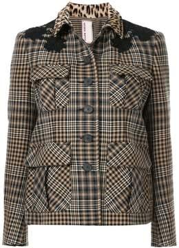 Antonio Marras contrast collar check jacket