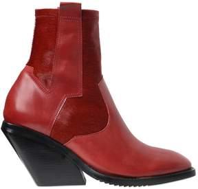 Cinzia Araia 80mm Ponyskin & Leather Pull On Boots
