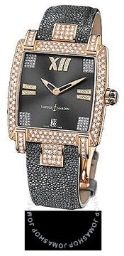 Ulysse Nardin Caprice Grey Dial Stingray Leather Automatic Ladies Watch