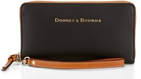 Dooney & Bourke City Collection Large Zip-Around Wristlet - BLACK - STYLE