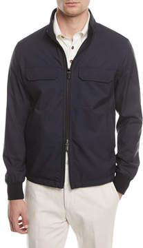 Ermenegildo Zegna Reversible Wool-Silk Blouson Jacket