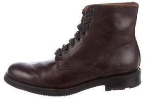 Frye Leather Combat Boots