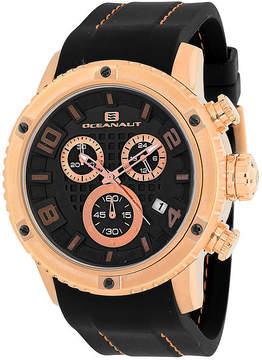 Oceanaut Mens Impulse Sport Black Silicon Strap Chronograph Watch