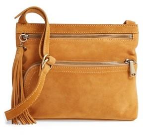 Hobo Cassie Calfskin Suede Crossbody Bag - Yellow