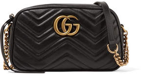 Gucci Gg Marmont Camera Small Quilted Leather Shoulder Bag - Black