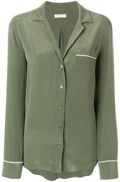Equipment single pocket button blouse