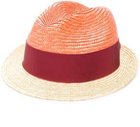 Prada two-tone straw trilby hat