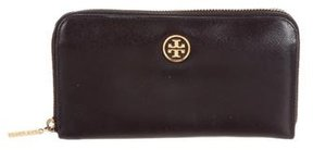 Tory Burch Robinson Continental Wallet - BLACK - STYLE