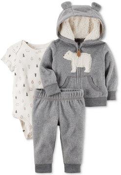 Carter's 3-Pc. Bear Hoodie, Bodysuit & Pants Set, Baby Boys (0-24 months)