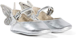 Sophia Webster Mini Silver Embroidered Butterfly Chiara Baby Shoes