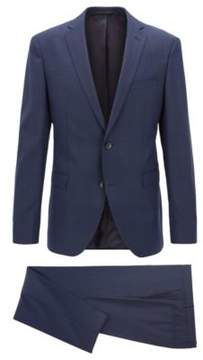BOSS Hugo Wool Suit, Extra Slim Fit Reyno/Wave 36R Dark Blue