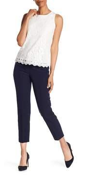 Adrianna Papell Striped Waist Slim Fit Crop Pants