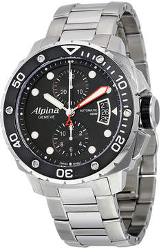Alpina Seastrong Diver 300 Chronograph Black Dial Steel Men's Watch