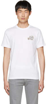 Moncler White Double Logo Patch T-Shirt