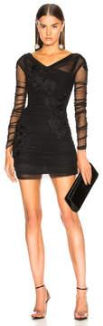 Dolce & Gabbana Long Sleeve Embroidered Mini Dress