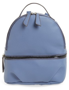 T-Shirt & Jeans Textured Faux Leather Mini Backpack - Blue