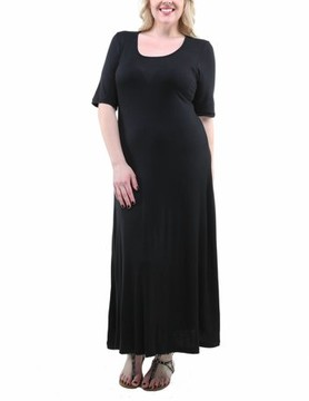 24/7 Comfort Apparel Women's Plus Size Maxi Dress