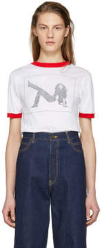 Calvin Klein White Short Sleeve Printed T-Shirt