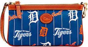 Dooney & Bourke MLB Nylon Tigers Large Slim Wristlet