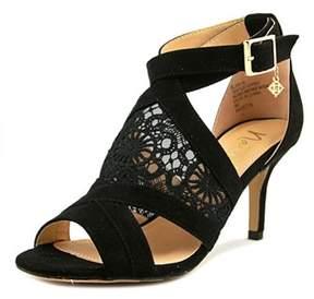 Nanette Lepore Bliss Women Open-toe Canvas Black Heels.