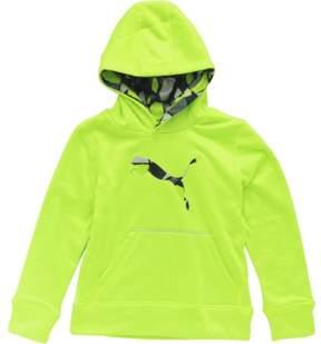 Puma Boy's Camp Printed Colorblock Active Green Pullover Hoodie Sweatshirt Sz: 5