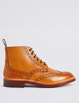 Marks and Spencer Leather Brogue Boots