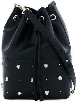 Salvatore Ferragamo Gancio studded bucket bag