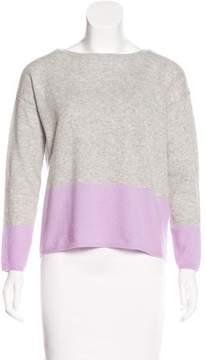 Allude Cashmere Colorblock Sweater