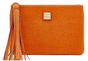 Dooney & Bourke Saffiano Large Carrington Pouch - NATURAL - STYLE