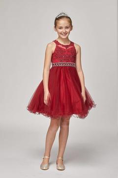No Name Rhinestone Beaded Dress