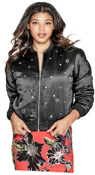 GUESS Venus Embellished Bomber Jacket