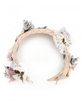 Maison Michel flower embellished head band