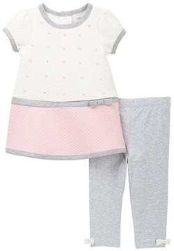 Little Me Heart Dress & Leggings Set (Baby Girls)