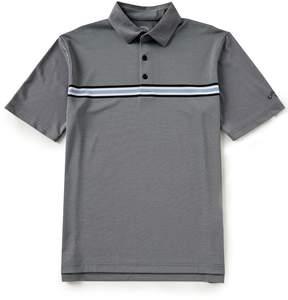 Callaway Opti-Dri Yarn Dyed Chest Stripe Short Sleeve Golf Polo Shirt
